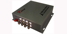 8-Channel Fiber Optic Video Converter